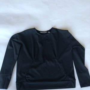 c5911d3433 Athleta Sweaters | Inversion Black Sweatshirt Zip Pockets | Poshmark